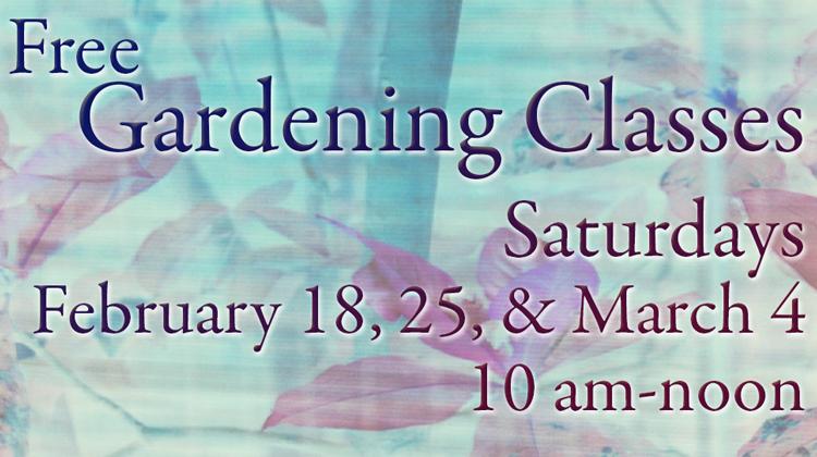 Free Gardening Classes with Charles Behnke