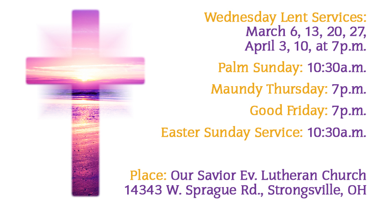 Lent & Easter Services